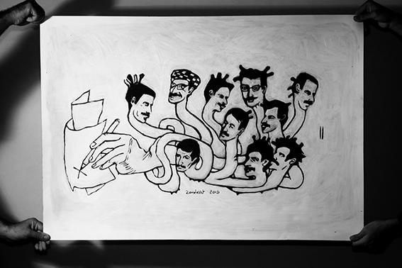 """اثر """"زرتشت رحیمی"""" در نمایشگاه """"چند روایت از یک انسان که با امواج ارس به دریا پیوست"""" به گردآورندگی آرش تنهایی"""